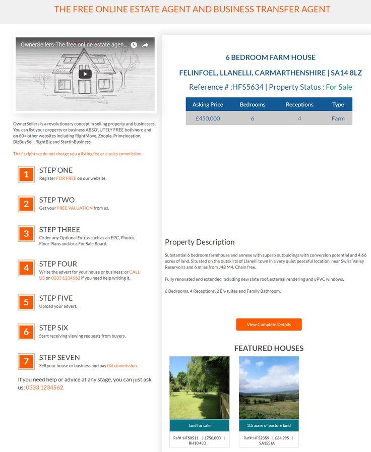 News for Farm Buyers - Are you interested in buying farm in Carmarthenshire area 6 BEDROOM FARM HOUSE FOR SALE in SA148LZ #FarmHouse #Farm #Llanelli #Felinfoel #Carmarthenshire #FreeOnlineEstateAgency #OnlineEstateAgency #FreePropertyValuation #SellingYourHouseOnlineforFree