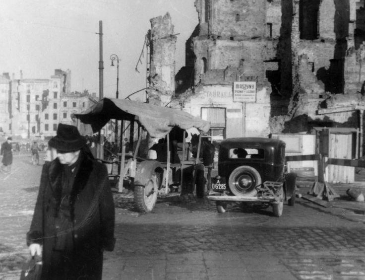 Zofia Chomętowska, Jerozolimskie Avenue, 1945-1946, Archeology of Photography…