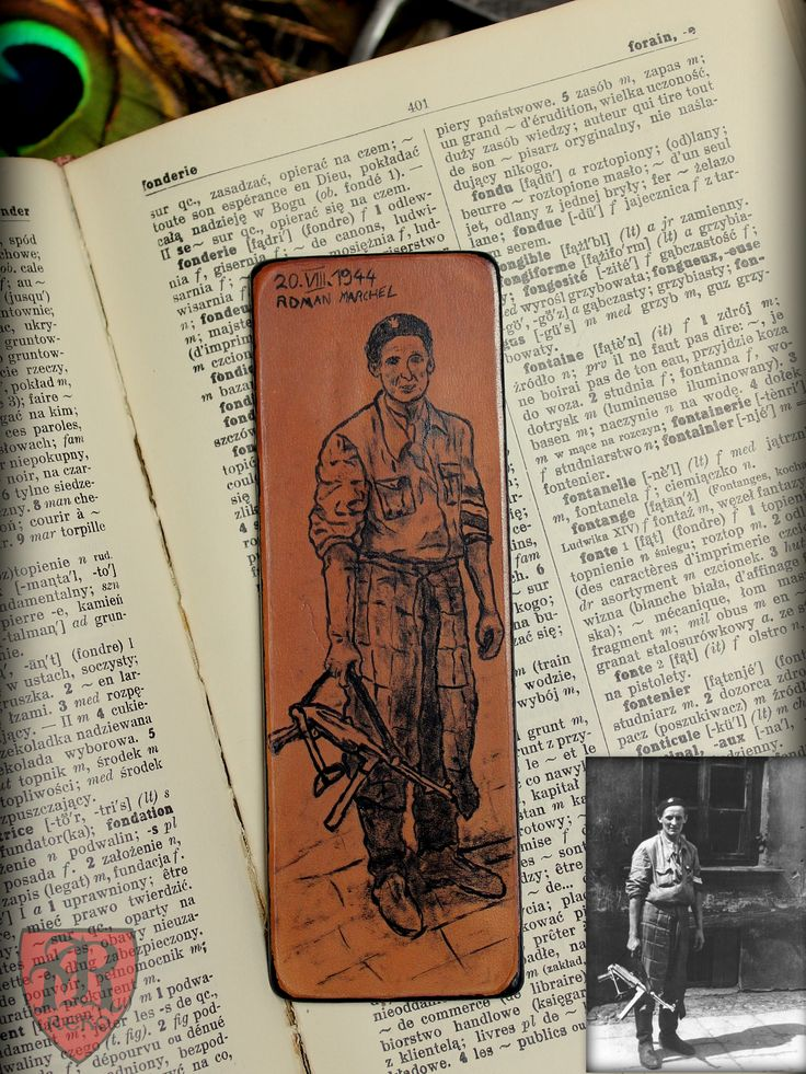 Hand made leather bookmark. Made by Pracownia REKO