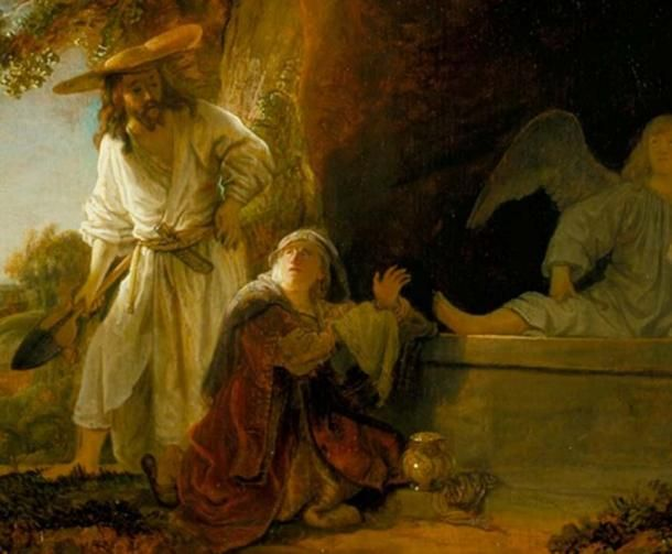 Image result for Christ and St. Mary Magdalene at the Tomb by Rembrandt c.1638