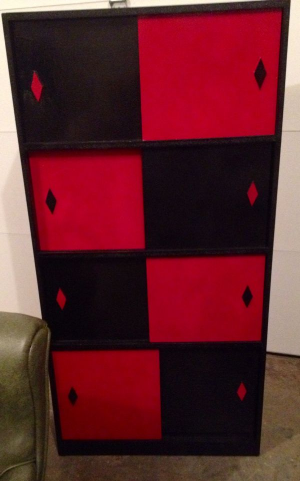 Harley Quinn dresser Vintage up-cycle  DC Universe geek comic