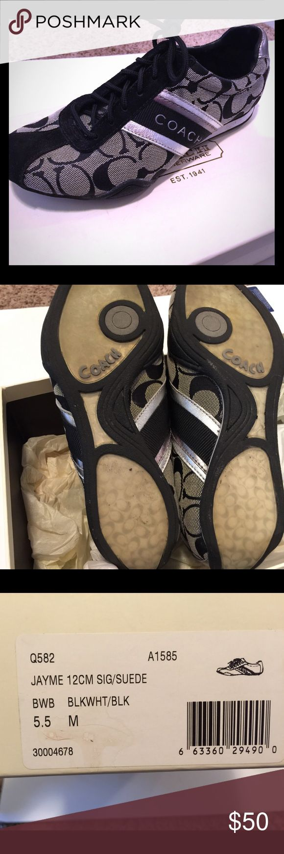 Coach tennis shoes size 5.5 Coach sneakers . Lightly worn . Size 5.5 Coach Shoes Sneakers