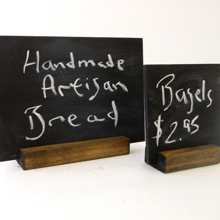 Retail Sign Holder in wood - Visual merchandiser sign holder - Wood Rectangle by G360design on Etsy (Business Card Restaurant Fit)