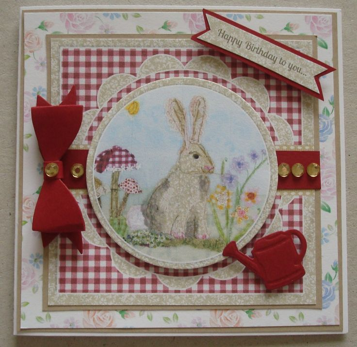 G118 Hand made Birthday card using Crafters Companion Halcyon Days