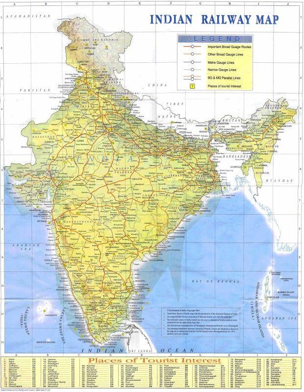 Indian Railways Map #indiarailmap #indiarailwaysmap #indianrailwaysmap http://www.toursoftajmahal.com/blog/indian-railways-map/