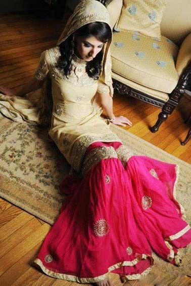Beautiful Bridal Sharara, Pakistani bridal Latest Fashion Pakistani Bridal Dresses, Lengha & Wedding Dresses,Pakistani Weddings and Bridal Dress,Luxury Bridal Dresses By Pakistani Fashion Designers. #pakistanibride, pakistanibridaldress, #pakistaniweddingdress