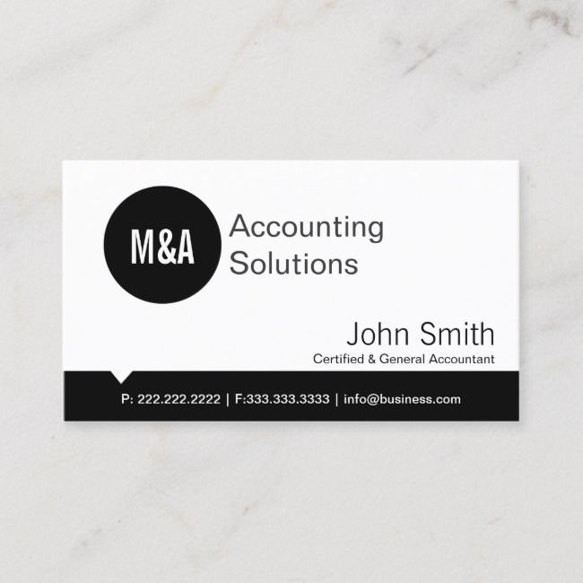Premium Black Dot Accounting Business Card Zazzle Com Bookkeeping Business Unique Business Cards Business Cards
