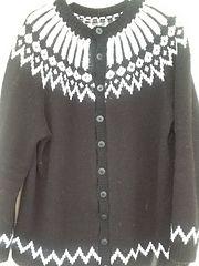 Ravelry: hellemyrvik's Saga eskimo - kofte black/white