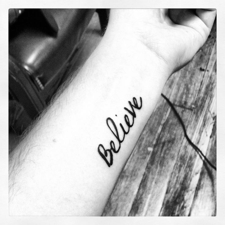 177 Best Believe Tattoo Images On Pinterest: Believe! #tattoo #believe #forearm