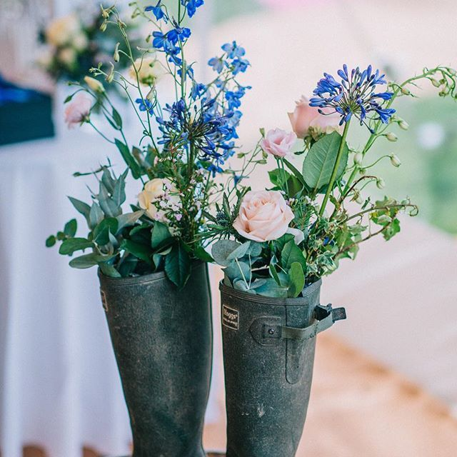 Wedding Flowers Harrogate: Flowers In Wellies Reflects Our Love Of Country Walks With