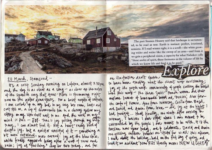 Keeping an art journal