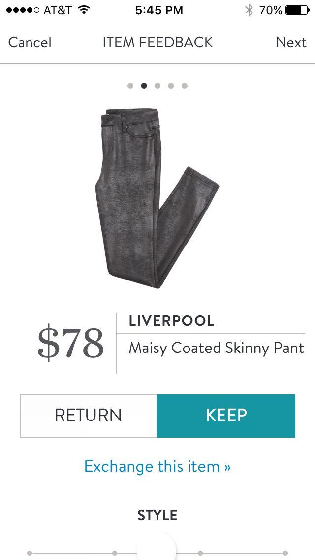 LIVERPOOL Maisy Coated Skinny Pant Stitch Fix