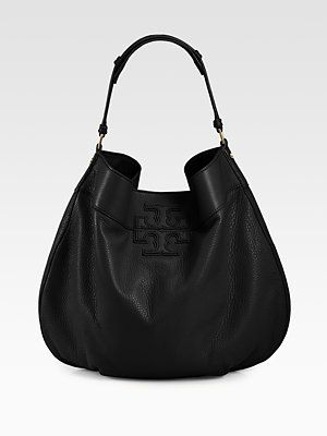 Tory Burch  Logo-Stacked T Hobo Bag