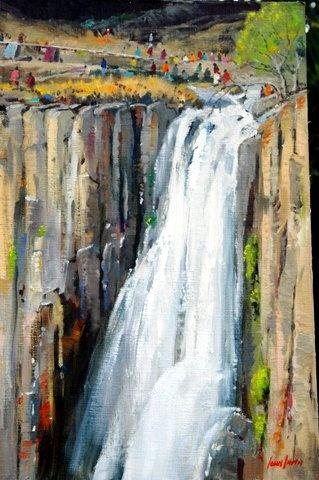 Howick Falls painted by SA artist John Smith