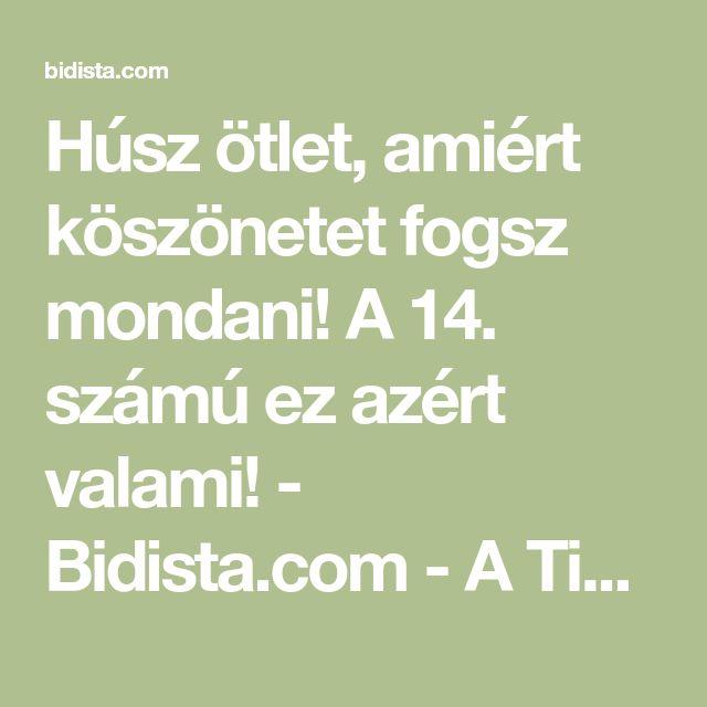 Húsz ötlet, amiért köszönetet fogsz mondani! A 14. számú ez azért valami! - Bidista.com - A TippLista!