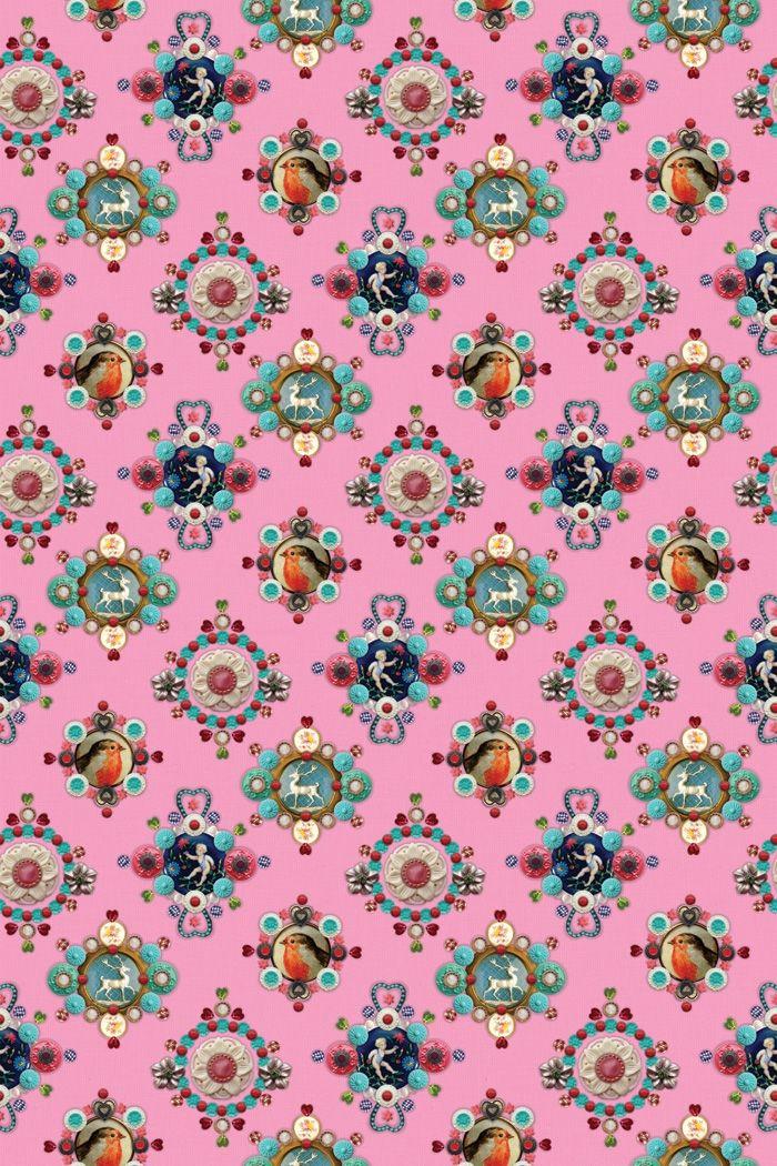 PiP Ruby Robin Roze behang | Wallpower | Behang | PiP Studio
