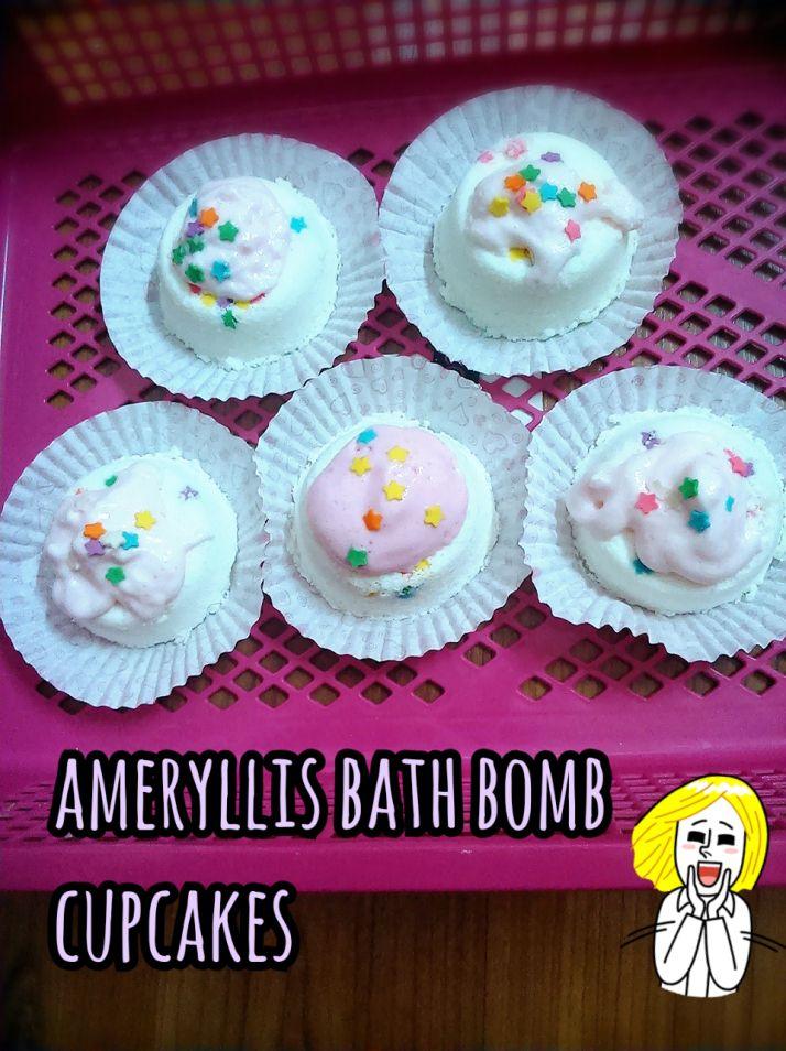 happy Sunday first attempt make bath bomb cupcakes ameryllis