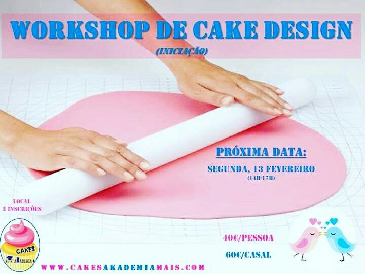 Quer aprender a fazer bolos decorados? Inscreva-se já no workshop de iniciação ao cake design (dia 13 de Fevereiro das 14h - 17h). Contactos: Telemóvel: 969 891 345 Email: geral@akademiamais.com Telefone: 249 715 071