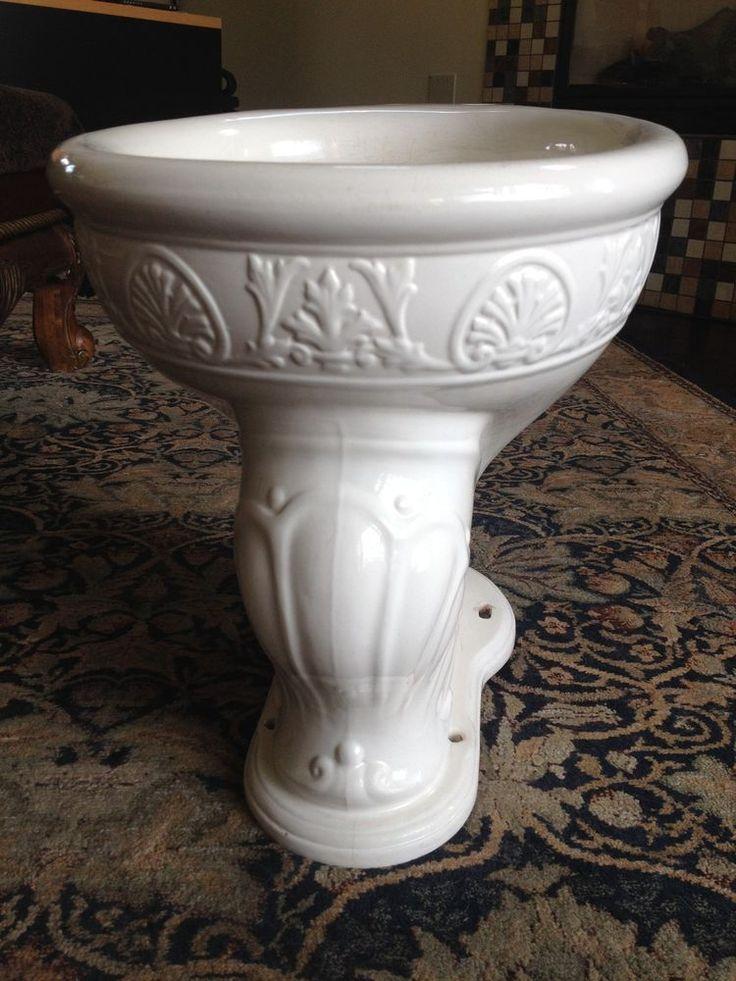 Toilet ~ National Vitrequs ~Antique Victorian Toilet Bowl ~ Vintage 1903