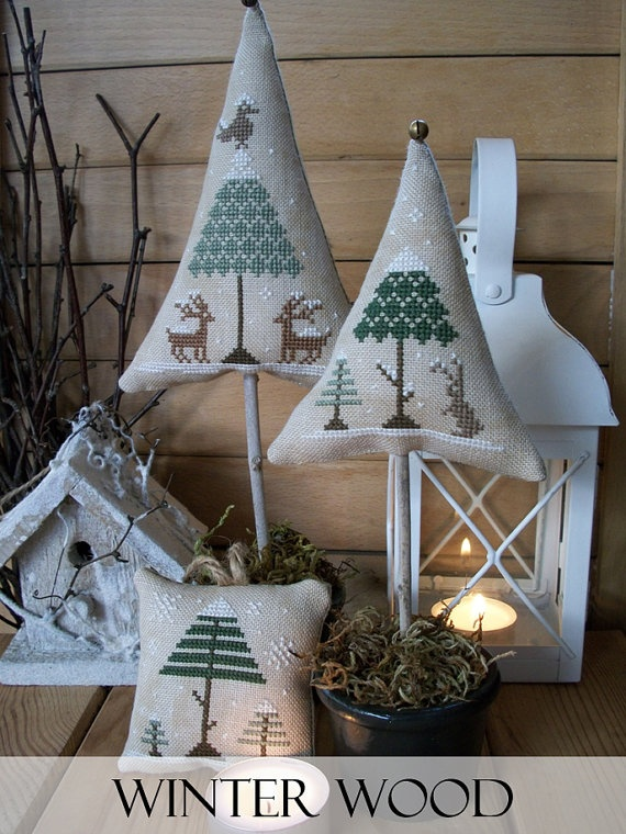 Winter Wood Cross Stitch Patterns Set by LittleStitcherShop, $12.80