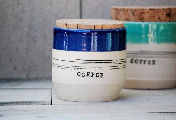 ceramic coffee jar stoneware coffee pottery jar and by claylicious