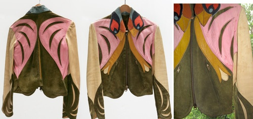 Vintage 1970's East West Jacket- Leather and suede: 70S