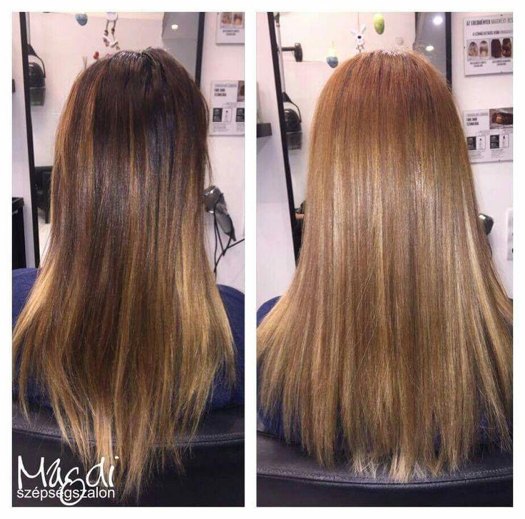 Egy kis vágás, egy kis festés...és milyen szembetűnő a változás :) Noémi, ügyi volt! ;)  #hairstyle #hair #hairfasion #haj #festetthaj #coloredhair #széphaj #szépségszalon #beautysalon #fodrász #hairdresser #ilovemyhair #ilovemyjob❤️