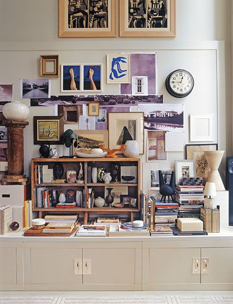 The toned-down purple and deep blue are lovely and complimentary in Thomas O'Brien's 57th Street  interior.