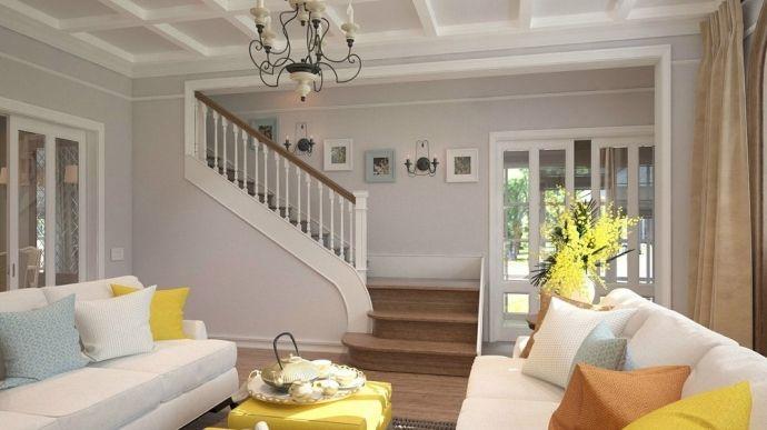 Уютная гостиная в американском стиле - Дизайн интерьеров   Идеи вашего дома   Lodgers
