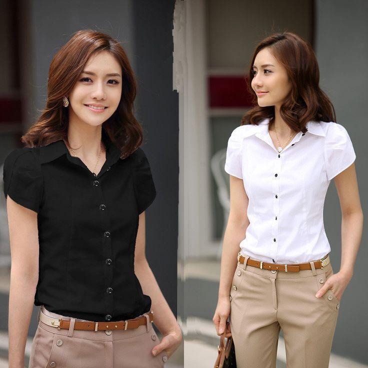 2017新しい契約しファッション女性のシャツエレガントolドレスビジネスフォーマル半袖シフォンブラウスプラスサイズ5xlカジュアル