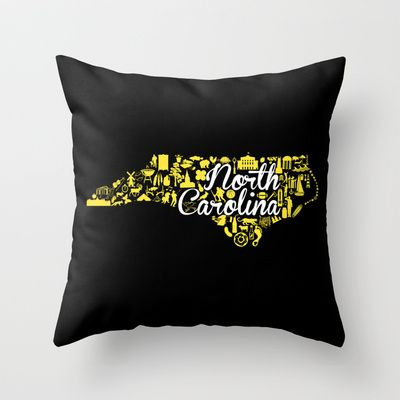 Appalachian State University North Carolina State - Black and Yellow University Design Throw Pillow by Painted Post - $20.00
