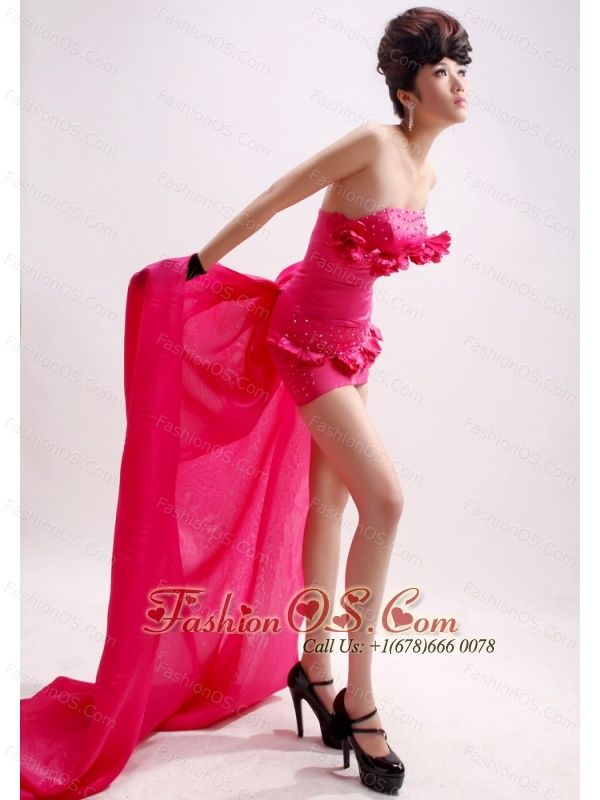 Hot Pink Beading Column / Sheath Watteau Taffeta Strapless Prom Dress  http://www.fashionos.com  http://www.facebook.com/quinceaneradress.fashionos.us   This strapless dress will bring you enough confidence and show your infinite charm. Wearing this prom dress, your sexy figure, your attractive charm, even your inside temperament will be reflected vividly and incisively. The bust area is decorated by delicate beaded flower.