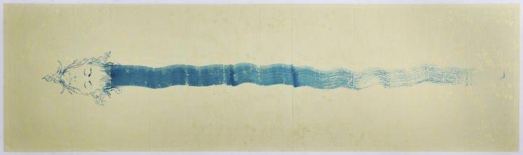 Omar Galliani Lontani da Xian, 2009 inchiostri su carta cinese, cm 60x250