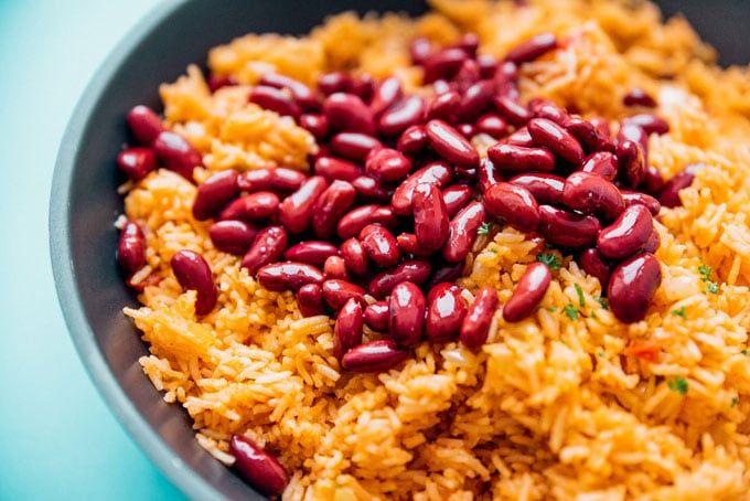 Easy Spanish Rice And Beans Recipe Spanish Rice Easy Spanish Rice And Beans Spanish Rice