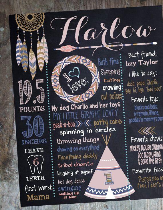 TRIBAL BIRTHDAY SIGN pow wow chalkboard tee by MichelleRayeDesigns