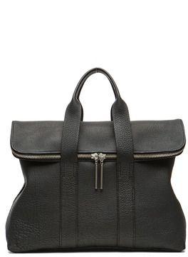 3.1 phillip lim 31 Hour Bag in Pebbled Black on shopstyle.com