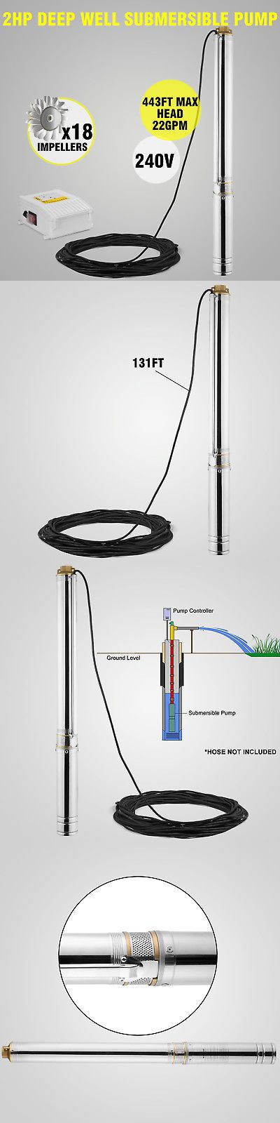 Lawn Sprinklers 20542: Submersible Pump, 4 Deep Well, 2 Hp, 220V, 22 Gpm, 443 Ft Max, Long Life -> BUY IT NOW ONLY: $184.5 on eBay!