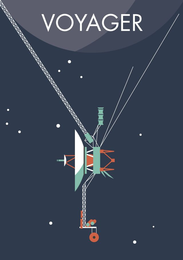 'Voyager program space probe' Poster by spacewalkwithme