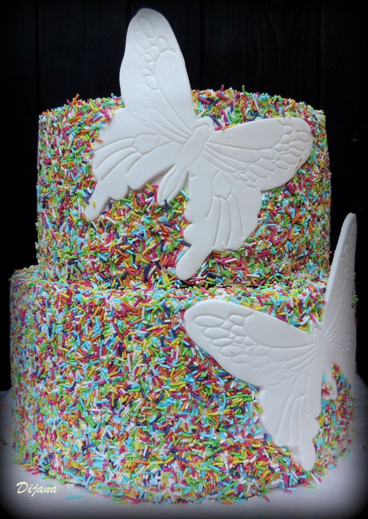 wedding cake - butterflies