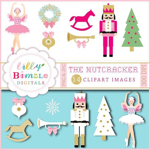 Christmas clipart from The Nutcracker Sugar Plum by LillyBimble, $5.00