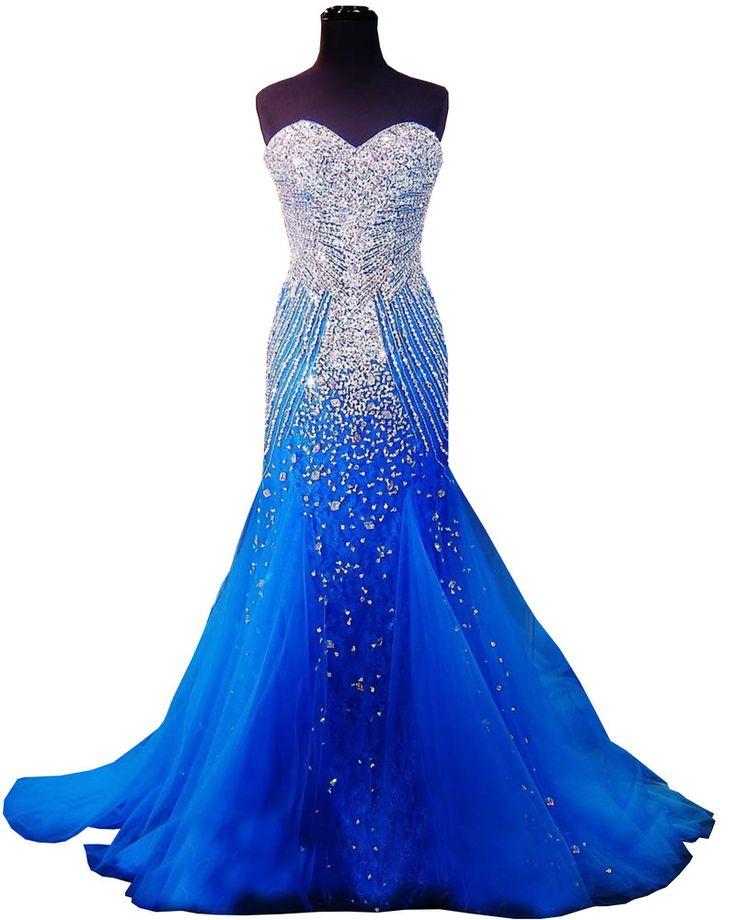 Real Tulle Prom Pageant vestido com cristais espumantes Beading 2016 vestidos de baile sereia querida abendkleider 2015 em Vestidos de Baile de Estudantes de Casamentos e Eventos no AliExpress.com | Alibaba Group