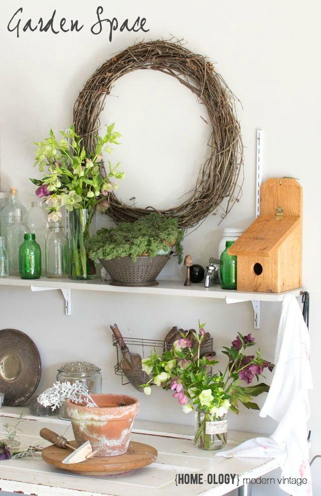 Creating a potting bench | {Home-ology} modern vintage