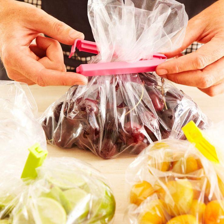 6 pcs Grand Alimentaire Collation Sac De Stockage D'étanchéité Clips, Joint Pince En Plastique Sacs Ziplock Clip Accueil De Stockage des Aliments Aide