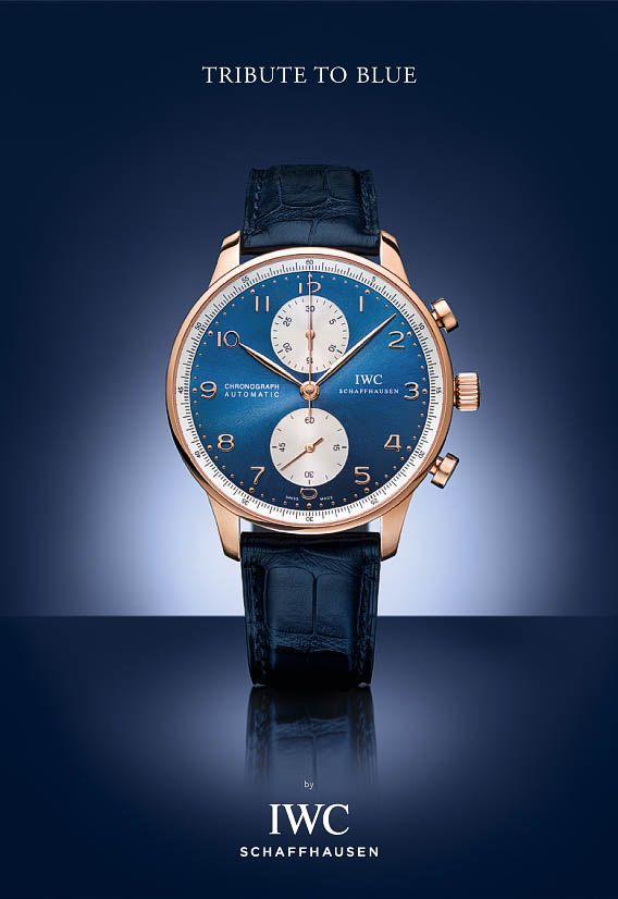 IWC Portuguese Chronograph rose gold - Bucherer Tribute to Blue - Perpetuelle