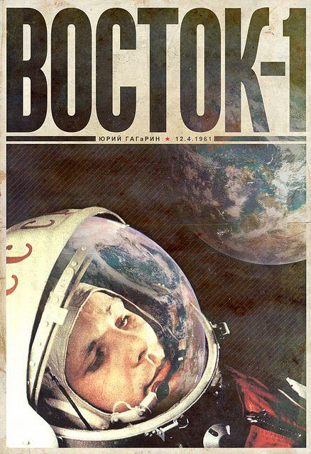 Vostok 1 / justinvg #grafica #poster #vintage