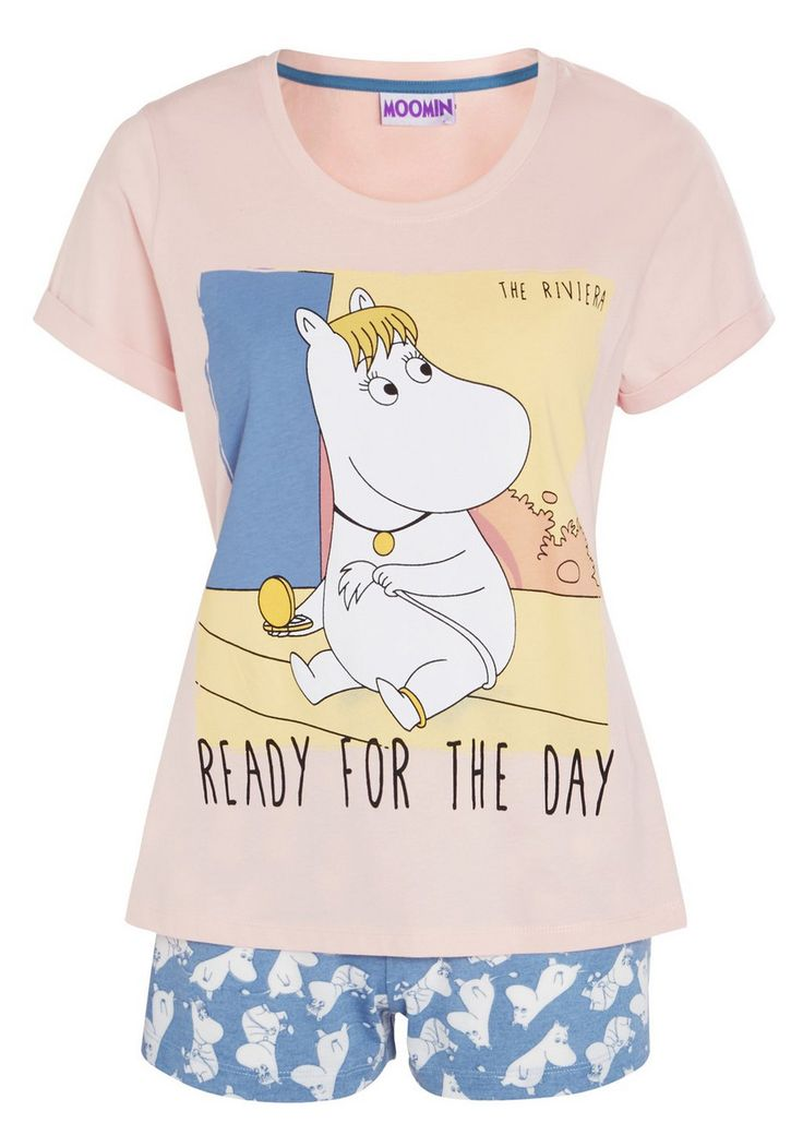 Clothing at Tesco | Moomin Print Shorts Pyjamas > nightwear > New In > Women