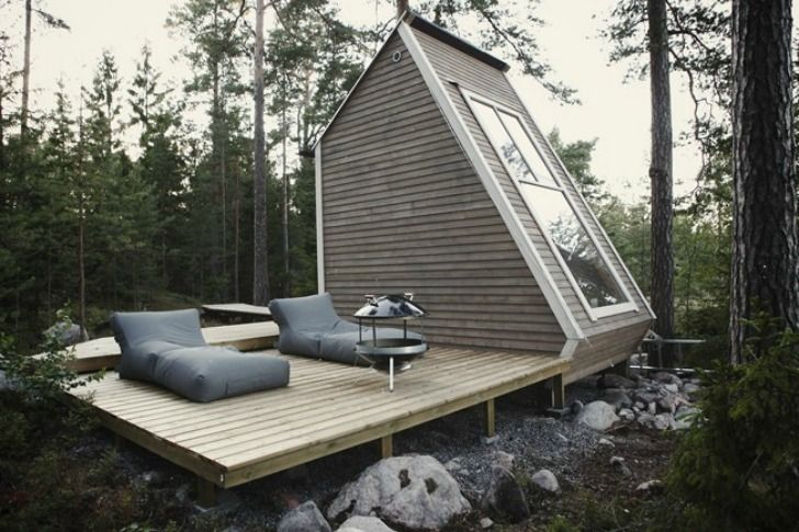 Nindo Micro House: Decks, Little Cabins, Tiny Houses, Finland, Robins, Architecture, Small Houses, Tiny Cabins, Small Cabins