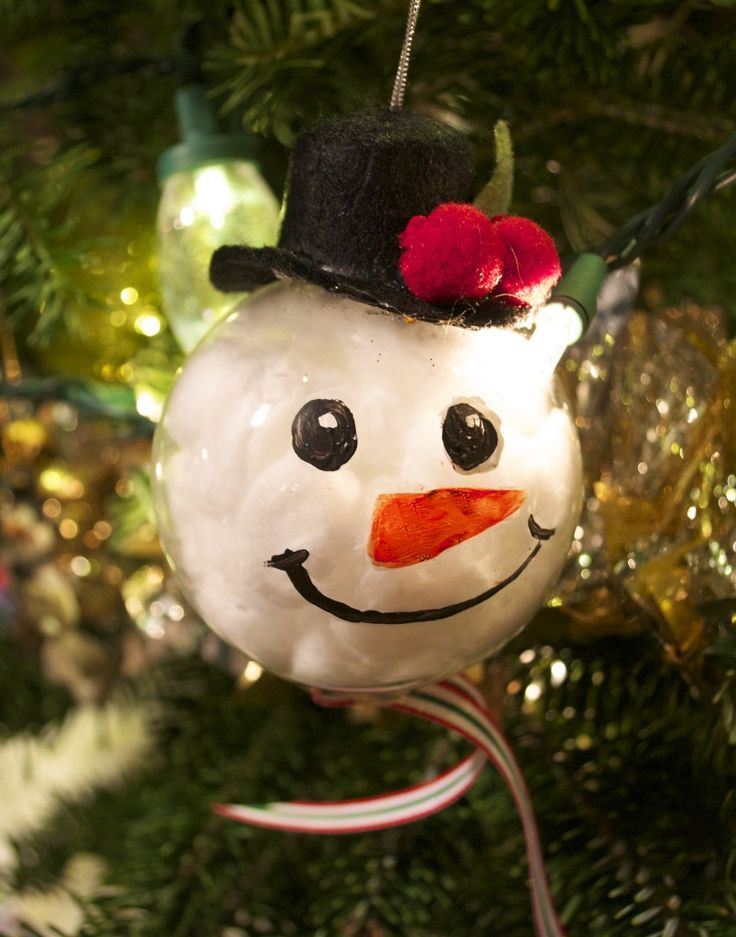 25 unique clear christmas ornaments ideas on pinterest for Clear ornament snowman craft