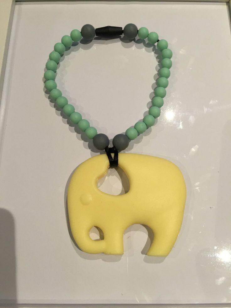 Girls Elephant Teething Toy by BabyBCreations1 on Etsy