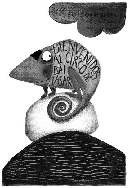 Carmen Queralt ilustra El circo de Baltasar, un cuento de Pepe Maestro que Edelvives publica en la colección Ala Delta.